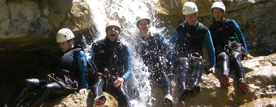 Canyoning in Bovec