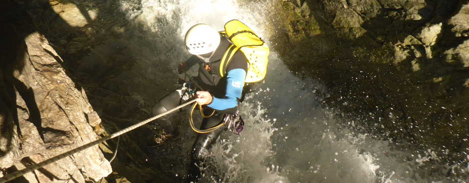 Canyoning Aoste Tal, Italien